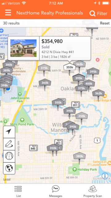 Search for sold listings